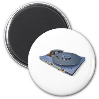 Internals of a hard disk drive 2 inch round magnet