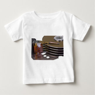 Internals of a hard disk drive baby T-Shirt