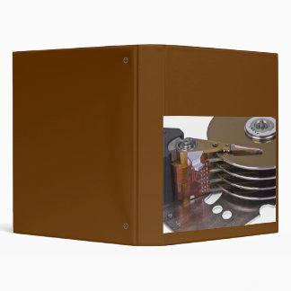 Internals of a hard disk drive binder