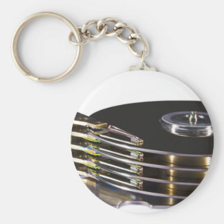 Internals of a hard disk drive keychain