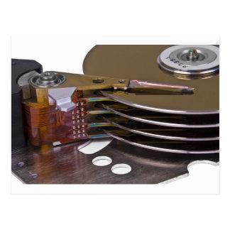 Internals of a hard disk drive postcard