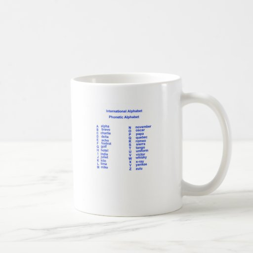 International Alphabet Classic White Coffee Mug