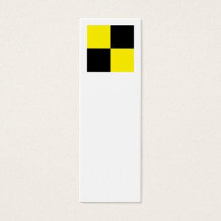International Alphabet Flags L Mini Business Card