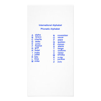 International Alphabet Personalized Photo Card