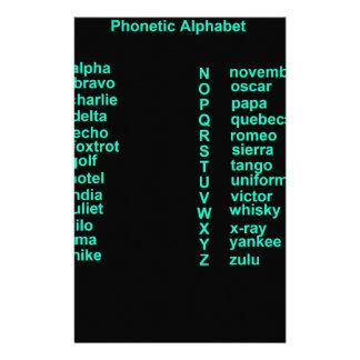 International Alphabet Personalised Stationery