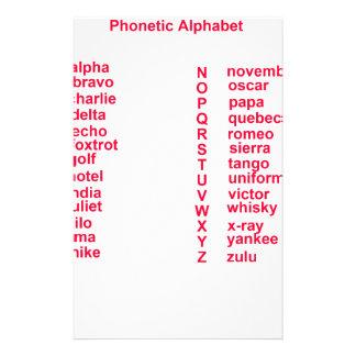 International Alphabet Stationery