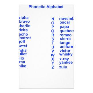 International Alphabet Custom Stationery