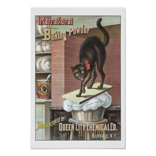International Baking Powder, 1885. Vintage Photo Poster