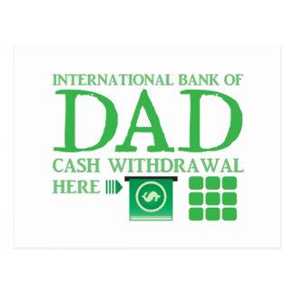 International BANK of DAD (Cash withdrawal here) Postcard