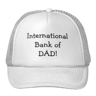International Bank of Dad Club Hats Caps Team Trucker Hats