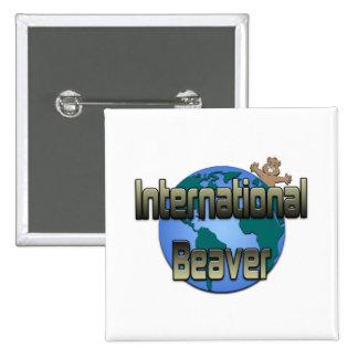 International Beaver Pinback Buttons