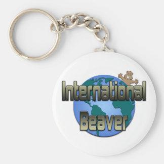 International Beaver Keychain