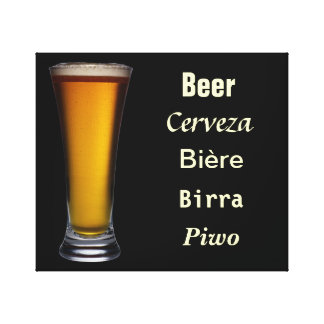 International Beer Stretched Canvas Prints