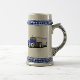 International Blue-White Delivery Truck Beer Stein