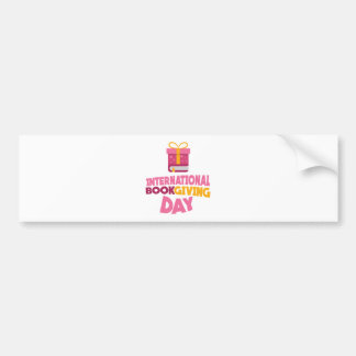 International Book Giving Day - 14th February Bumper Sticker