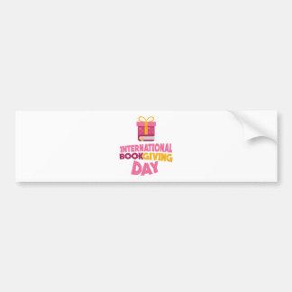International Book Giving Day - 14th February Bumper Sticker