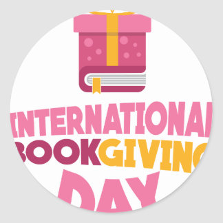 International Book Giving Day - 14th February Classic Round Sticker