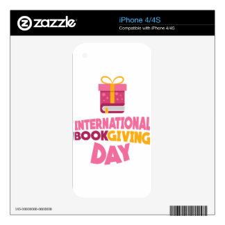 International Book Giving Day - 14th February Decal For The iPhone 4S