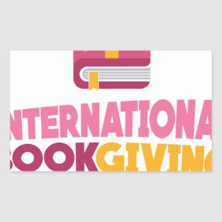 International Book Giving Day - 14th February Rectangular Sticker
