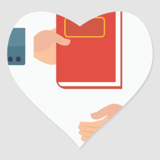 International Book Giving Day - Appreciation Day Heart Sticker