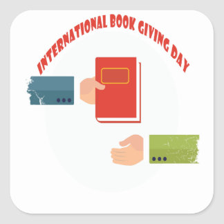 International Book Giving Day - Appreciation Day Square Sticker