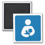 international breastfeeding symbol 2 inch square magnet