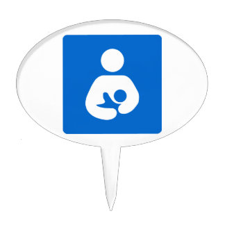 International Breastfeeding Symbol Cake Topper