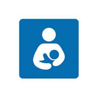 international breastfeeding symbol photo sculpture keychain