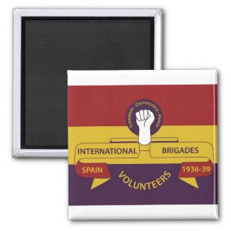 International Brigades 2 Inch Square Magnet