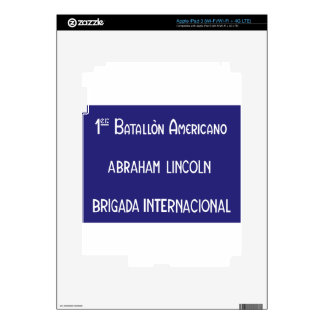 International Brigades Abraham Lincoln 1st iPad 3 Decal