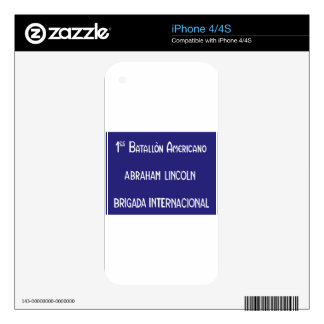 International Brigades Abraham Lincoln 1st Skins For iPhone 4S
