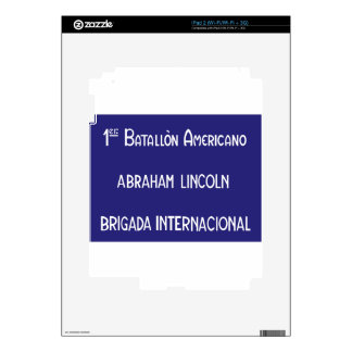 International Brigades Abraham Lincoln 1st Skins For The iPad 2