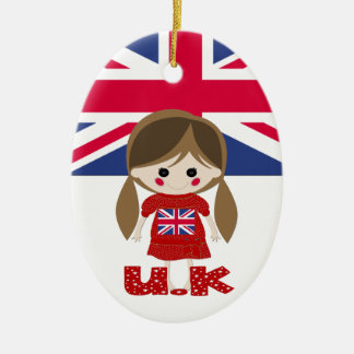 International - British Girl - SRF Ornaments