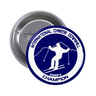 International Chinese Downhill Champion 1984 Pin