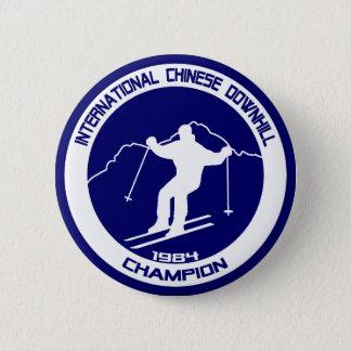 International Chinese Downhill Champion 1984 Pinback Button