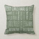 International Christmas Green Pillows