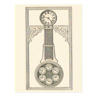 International clock postcard