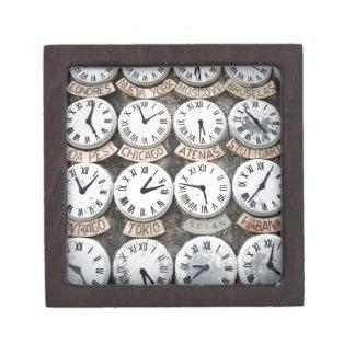 International Clocks Jewelry Box