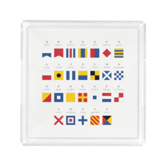 International Code of Signals Alphabet Acrylic Tray