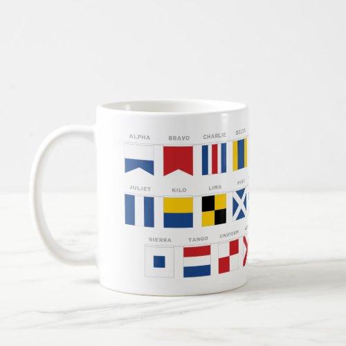 International Code of Signals Alphabet _ Alpha Coffee Mug