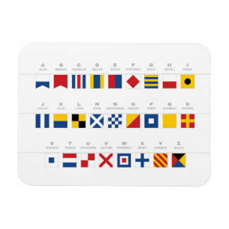 International Code of Signals Alphabet Magnet