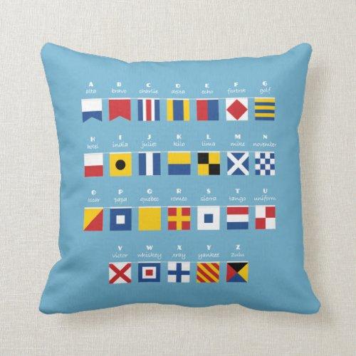 International Code of Signals Alphabet Throw Pillow
