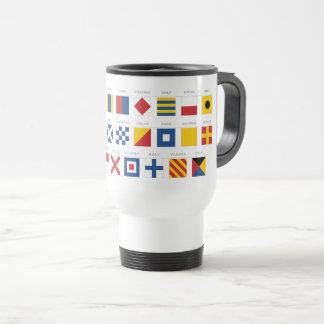 International Code of Signals Alphabet Travel Mug