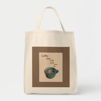 International Coffee Cup Grocery Tote