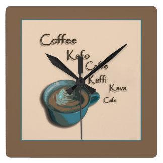 International Coffee Cup Wall Clock