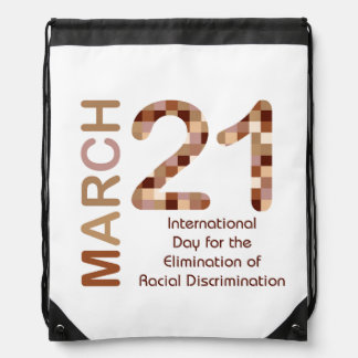 International day for elimination of racism drawstring backpack