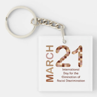 International day for elimination of racism keychain
