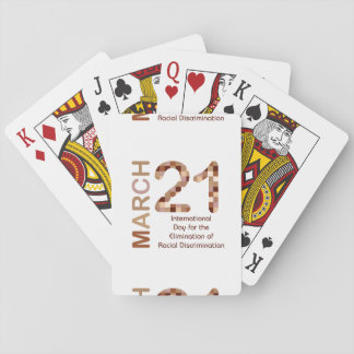 International day for elimination of racism playing cards