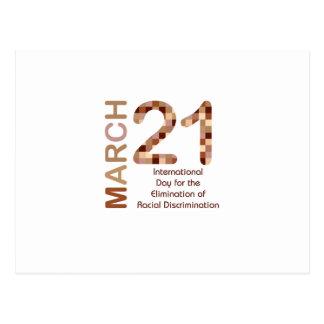 International day for elimination of racism postcard