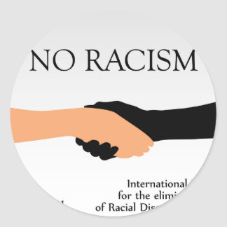 International day for the elimination of Racism Classic Round Sticker